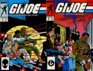 G.I. Joe #61 and #62 covers by Mike Zeck