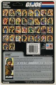 G.I. Joe 1986 Hawk blister card back
