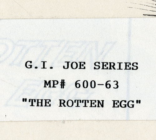 "G.I. Joe ""The Rotten Egg"" storyboard title pg excerpt"
