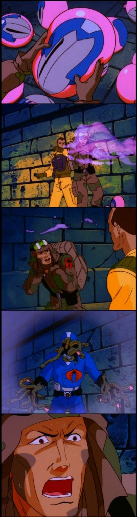 "G.I. Joe ""The Funhouse"" screencap Dusty, Airtight, Cobra Commander"