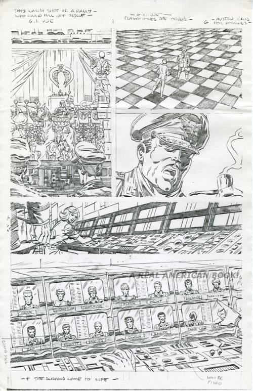 "Original pencil art by Herb Trimpe for ""G.I. Joe"" issue #1, March 1982"