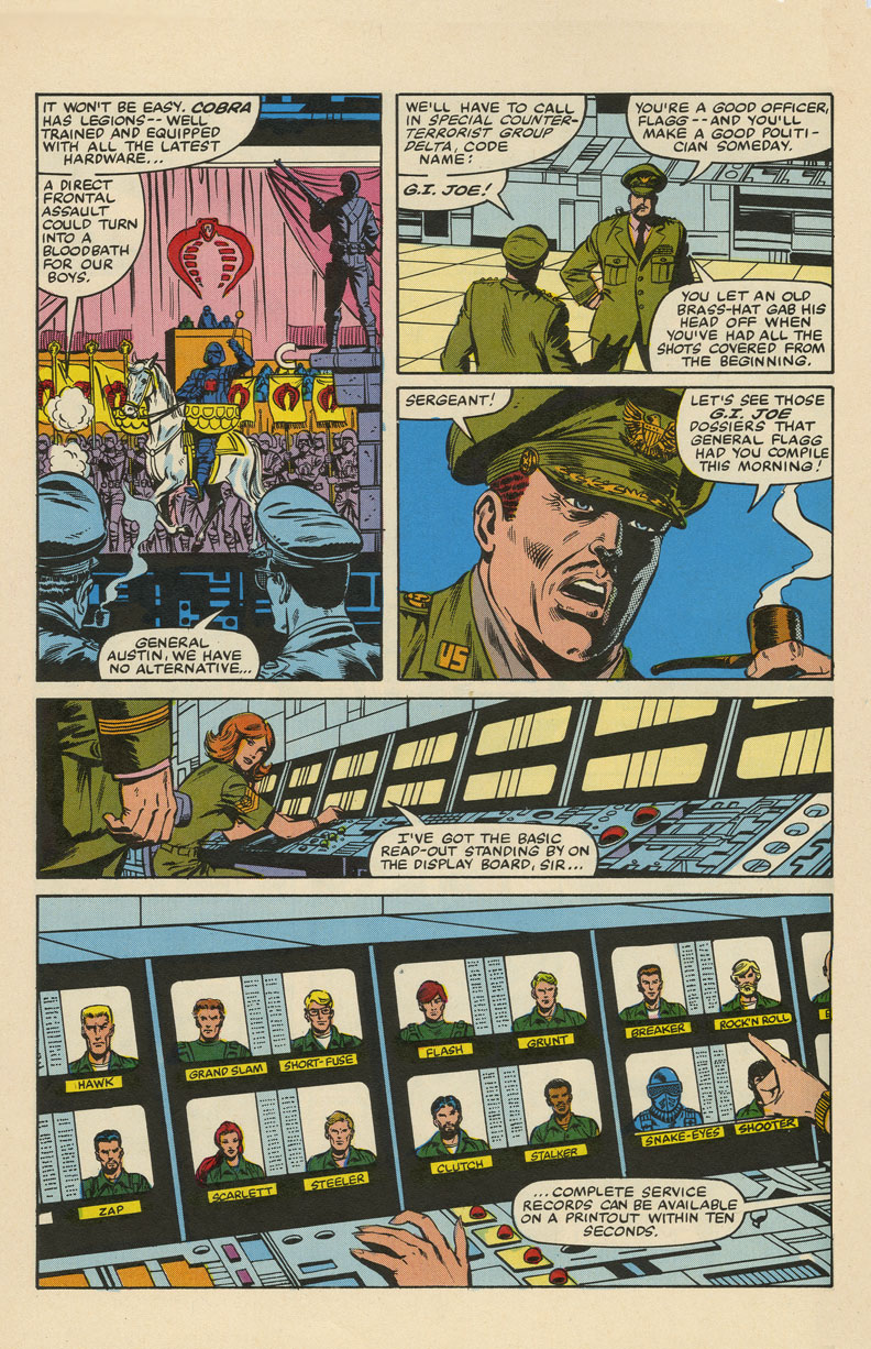 """""""G.I. Joe"""" issue 1 pg06, as printed, March 1982, Trimpe/McLeod/Wein."""