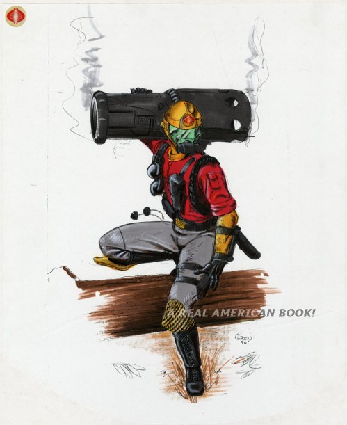 Unproduced G.I. Joe Cobra marker sketch by Kurt Groen dated 1990