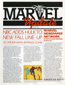 """Marvel Update"" spring 1982 pg1"