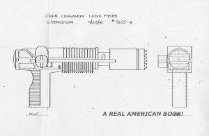 Cobra Commander 1982 laser pistol by Greg Berndtson view 2