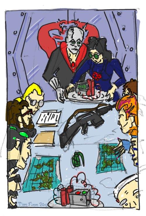 G.I. Joe Norman Rockwell Thanksgiving by Tim Finn