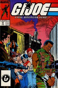 G.I. Joe issue #62 cover by Mike Zeck - as printed