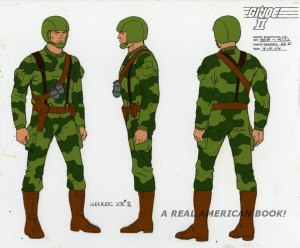 G.I. Joe color model sheet Generic Joe