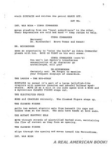 G.I. Joe: The Movie 1987 screenplay pg 005 Friedman/Dixon