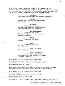 G.I. Joe: The Movie 1987 screenplay pg 006 Friedman/Dixon