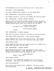 G.I. Joe: The Movie 1987 screenplay pg 007 Friedman/Dixon