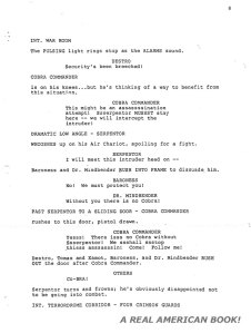 G.I. Joe: The Movie 1987 screenplay pg 008 Friedman/Dixon