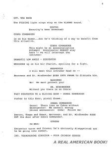 G.I. Joe: The Movie 1987 screenplay pg 008 Friedman/Dixon