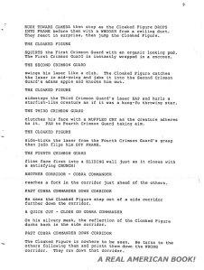 G.I. Joe: The Movie 1987 screenplay pg 009 Friedman/Dixon