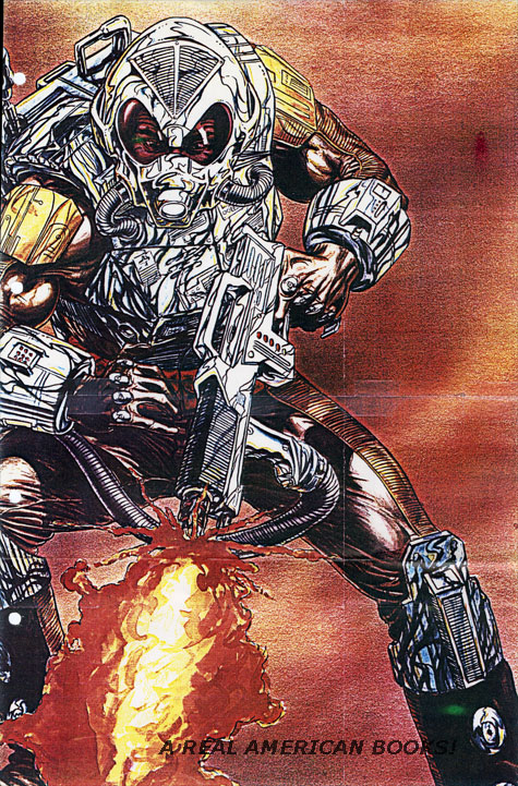 Bart Sears G.I. Joe Charbroil presentation painting photocopy