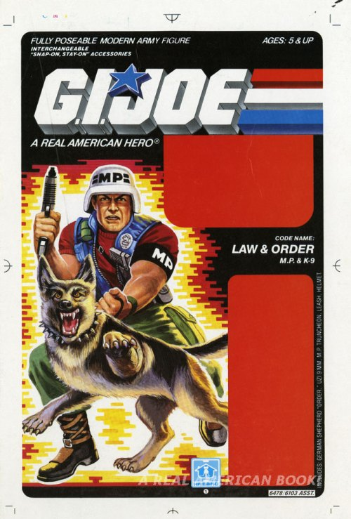 G.I. Joe 1987 Law blister card