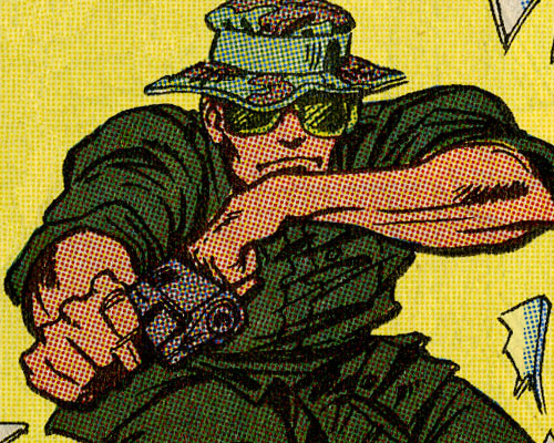 G.I. Joe issue 94 panel Snake-Eyes Vietnam flashback by Bright and Emberlin