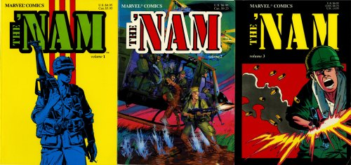 The 'Nam TPB covers by Michael Golden