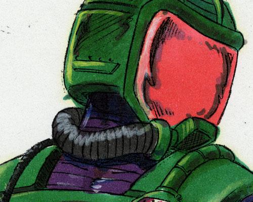 Detail of Kurt Groen 1991 Toxo-Viper v2 color comp