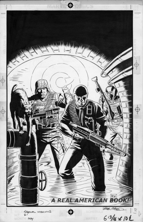 G.I. Joe Special Missions 21 original cover art Ron Wagner and Bob McCleod