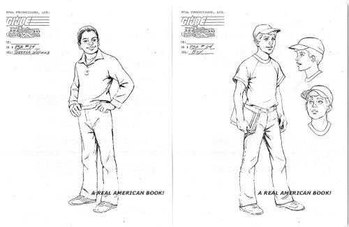 G.I. Joe PSA 34 models sheets Terrell Williams and boy