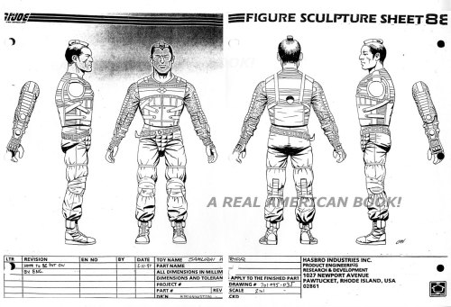 G.I. Joe Budo 1988 action figure turnaround art by George Woodbridge