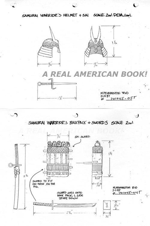 G.I. Joe Budo 1988 accessory input art by Mark Pennington