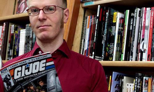 DigBoston Feb 29 2012 Tim Finn photo at Hub Comics by Jamie Meditz