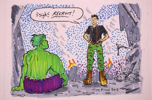 Flint and the Incredible Hulk by Tim Finn at Boston Comic Con