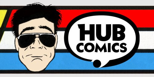 Larry Hama portrait - signing at Hub Comics