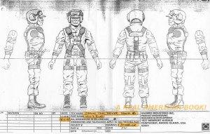G.I. Joe 1995 Stealth Tank driver, sculpt input reused from 1988 Hit & Run, Mark Pennington