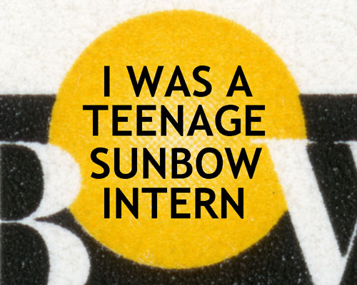 Close up of Sunbow Entertainment logo for Tim Finn's blog entry about his internship