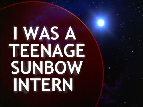 "Title card for Tim Finn's blog post about his summer internship using a still from ""Transformers: The Movie"""