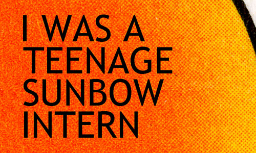 Title card for Tim Finn's blog post about his Sunbow internship