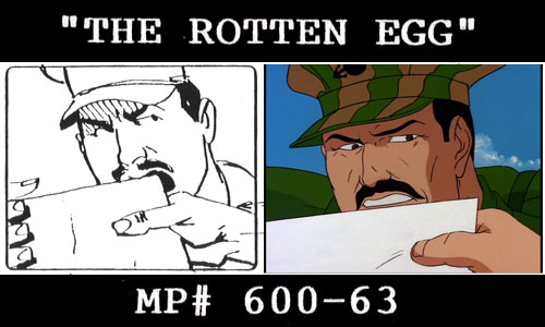G.I. Joe The Rotten Egg storyboards TEASE