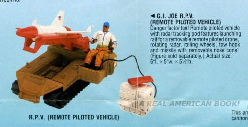 G.I. Joe RPV vehicle 1988 catalog scan