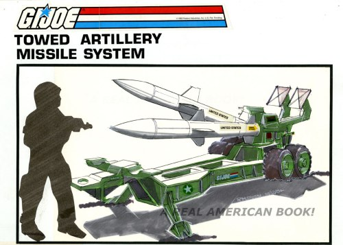 Concept art for Unproduced G.I. Joe vehicle, TAMS, 1984