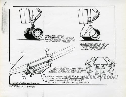 Cobra Night Raven design pg 3 by Steve Reiss for G.I. Joe 1986 toy line