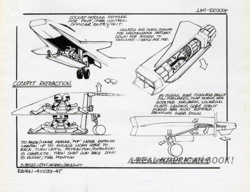 Cobra Night Raven design pg 4 by Steve Reiss for G.I. Joe 1986 toy line
