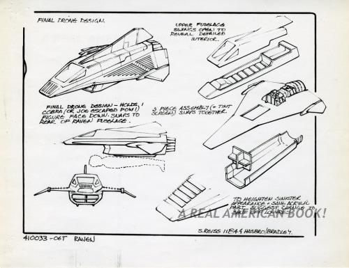 Cobra Night Raven design pg 5 by Steve Reiss for G.I. Joe 1986 toy line