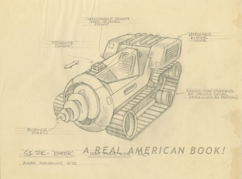 Andrei Koribanics pencil art of Unproduced G.I. Joe Borer 2 of 3