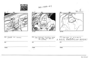 The Tick ep1 storyboard pg005 art by Ben Edlund