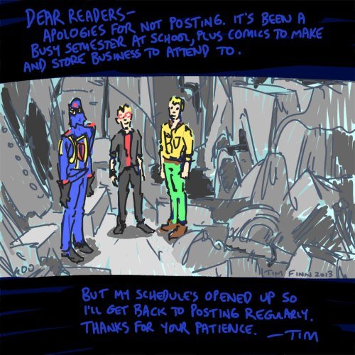 Tim Finn, with help from Cobra Commander and Duke, apologizes for his lack of G.I. Joe blog posts