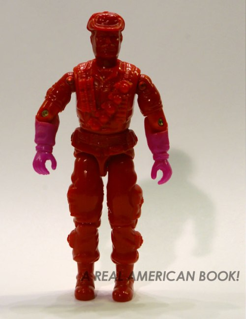 Test shot of GI Joe 1993 Leatherneck figure, front view, slightly altered lighting