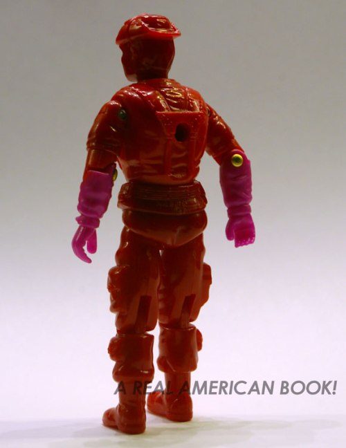 Test shot of GI Joe 1993 Leatherneck figure, rear view