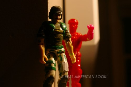 Test shot of 1993 GI Joe Leatherneck attacks Backblast