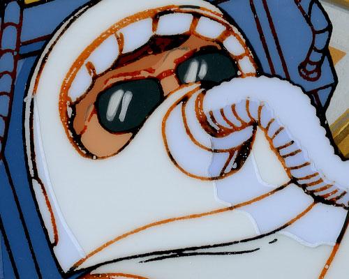 """GI Joe """"The Wrong Stuff"""" animation cel detail"""