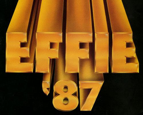 Effie Award 1987 catalog partial cover