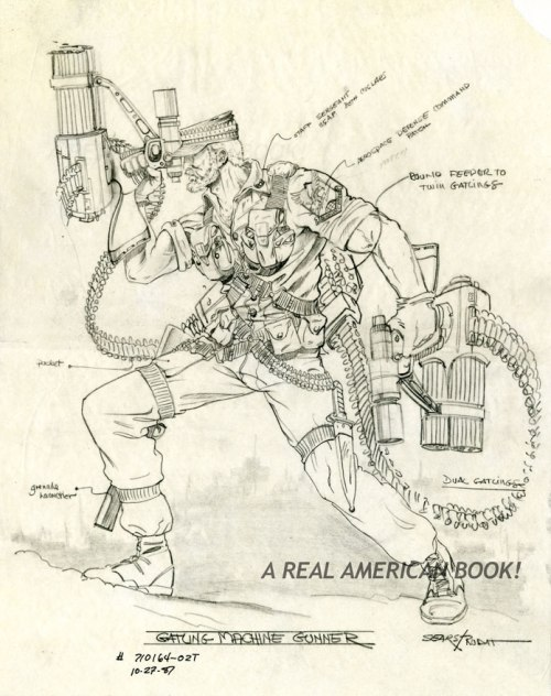 internal Hasbro pencil sketch design of 1989 Rock & Roll by Bart Sears and Ron Rudat