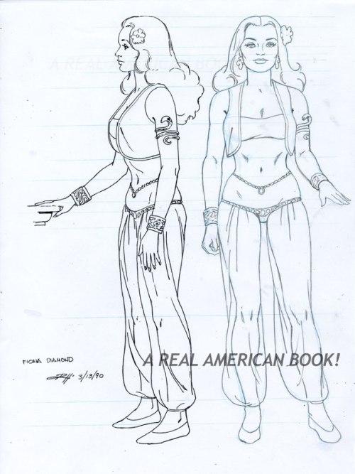"Russ Heath GI Joe model Fiona Diamond from episode ""That's Entertainment"""